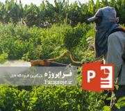 پاورپوینت عوامل زیان آور فیزیکی و شیمیایی در کشاورزی